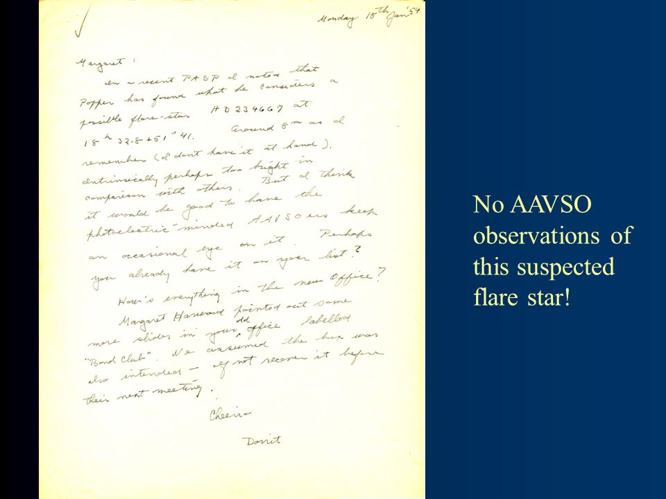 No AAVSO observations of this suspected flare star!