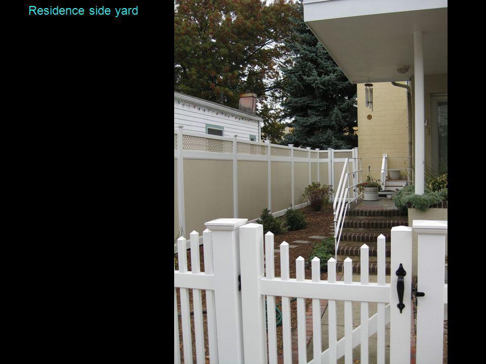 Residence side yard