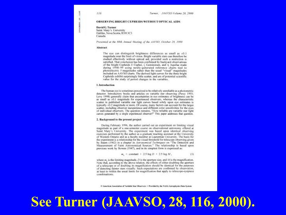 See Turner (JAAVSO, 28, 116, 2000).
