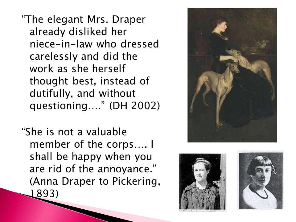 The elegant Mrs.