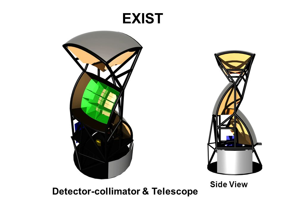 EXIST Side View Detector-collimator & Telescope