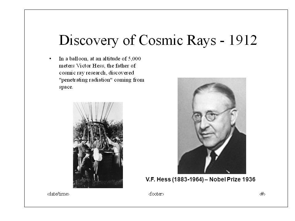 V.F. Hess (1883-1964) – Nobel Prize 1936