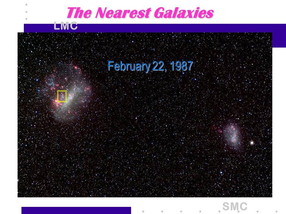 The Nearest Galaxies LMC SMC February 22, 1987