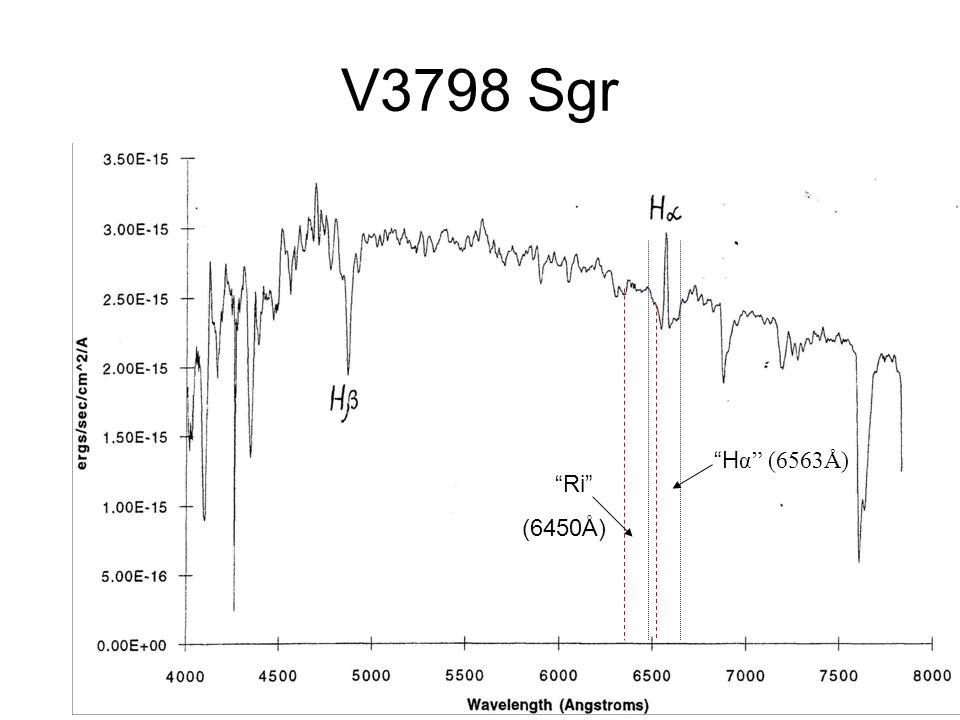 V3798 Sgr H α (6563Å) Ri (6450Å)