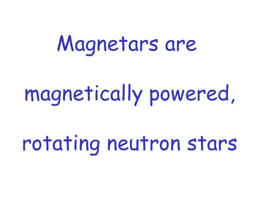 Magnetars are magnetically powered, rotating neutron stars