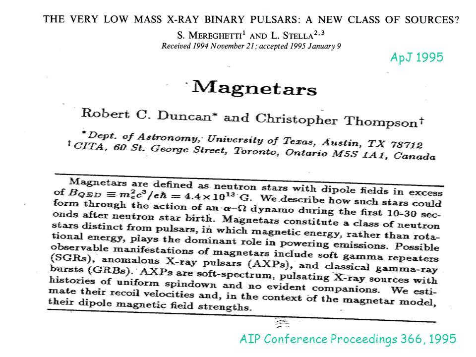 ApJ 1995 AIP Conference Proceedings 366, 1995