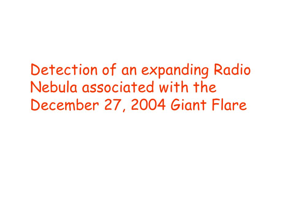 Detection of an expanding Radio Nebula associated with the December 27, 2004 Giant Flare
