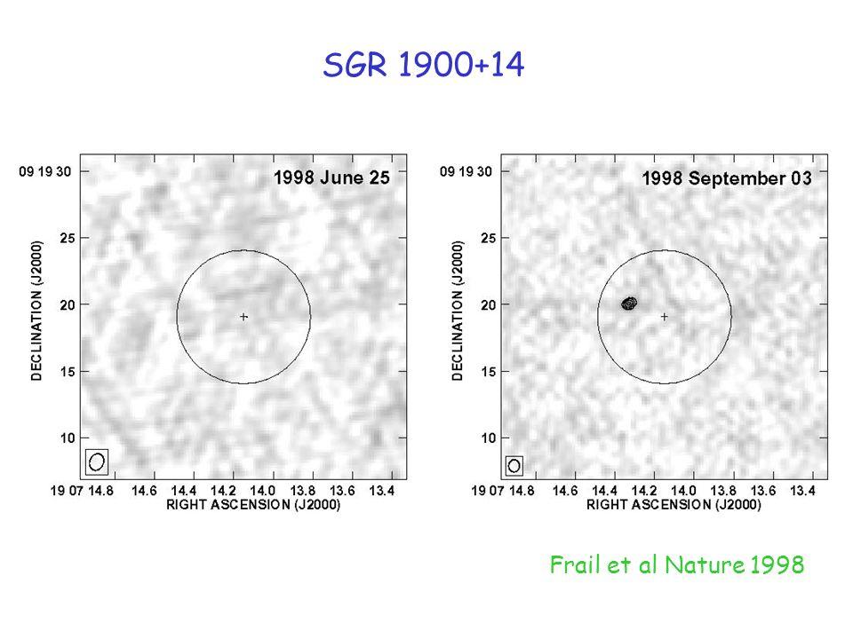 Frail et al Nature 1998 SGR 1900+14