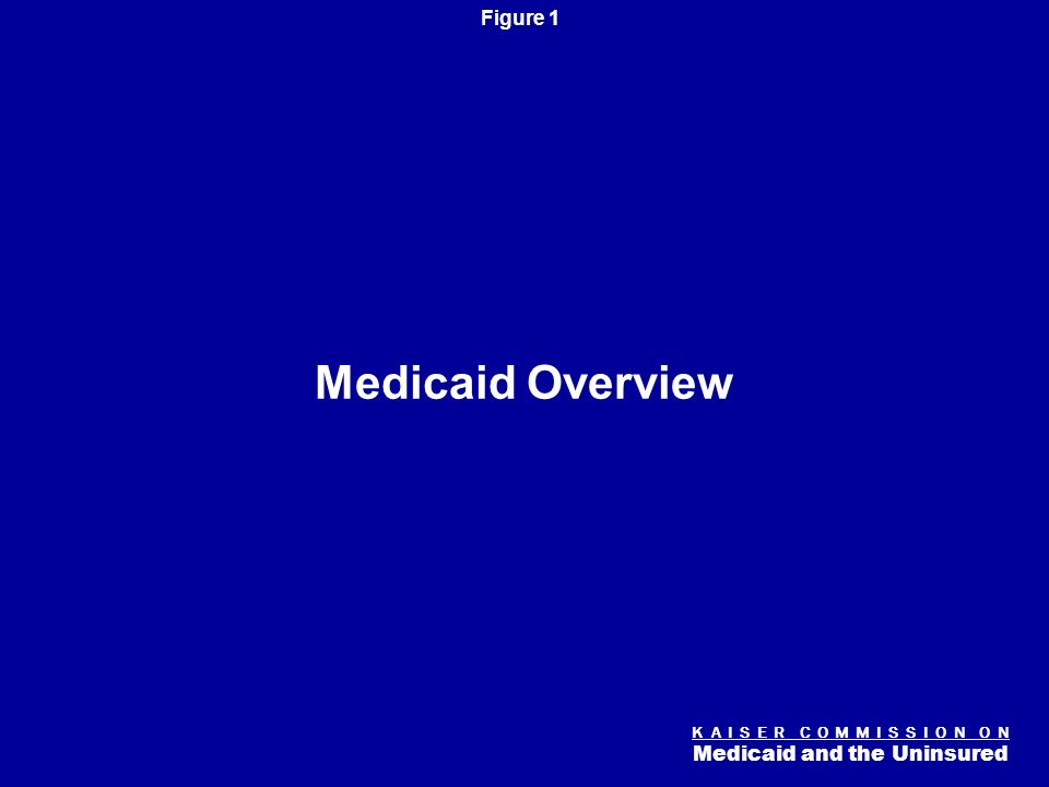 K A I S E R C O M M I S S I O N O N Medicaid and the Uninsured Figure 0 Medicaid and the Economy Diane Rowland and Robin Rudowitz Henry J. Kaiser Fami
