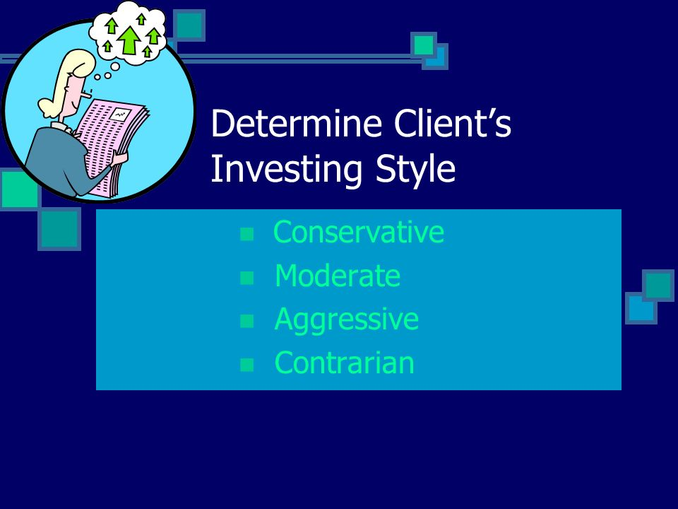 Determine Clients Investing Style Conservative Moderate Aggressive Contrarian