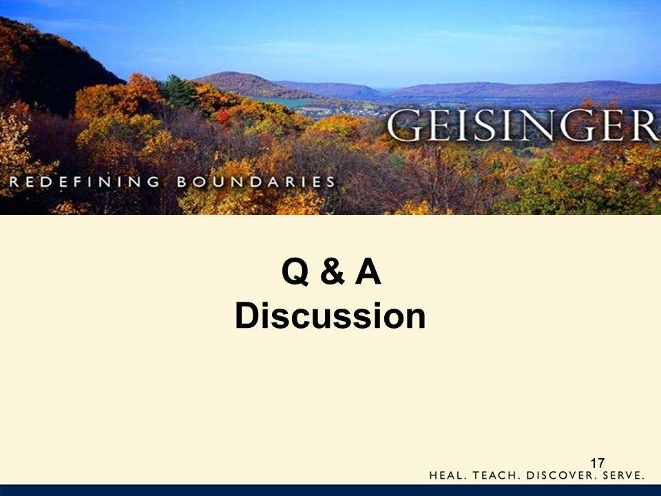 17 Q & A Discussion