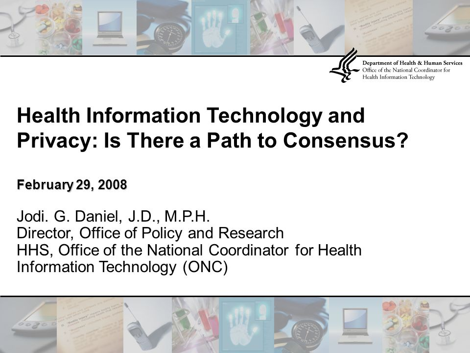 Health Information Technology and Privacy: Is There a Path to Consensus.