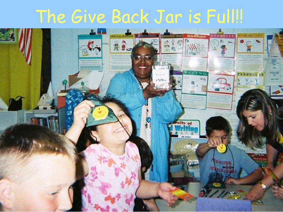 The Give Back Jar is Full!!