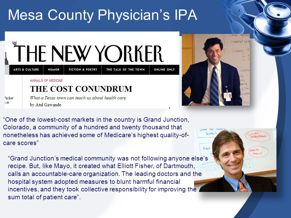 Mesa County Physicians IPA Thank you