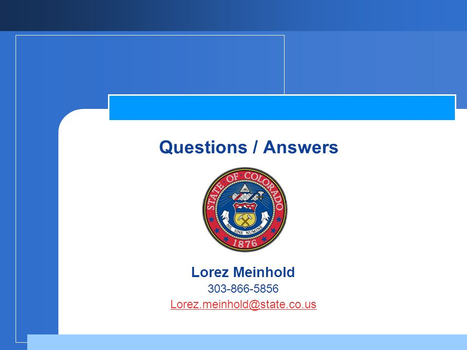 Questions / Answers Lorez Meinhold