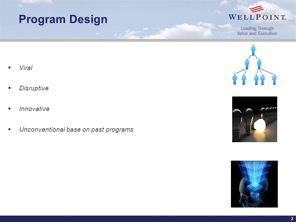 2 Program Design Viral Disruptive Innovative Unconventional base on past programs