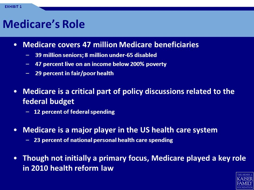 Health Reform and Medicare: Overview of Key Provisions Tricia Neuman Vice President and Director, Medicare Policy Project Kaiser Family Foundation For