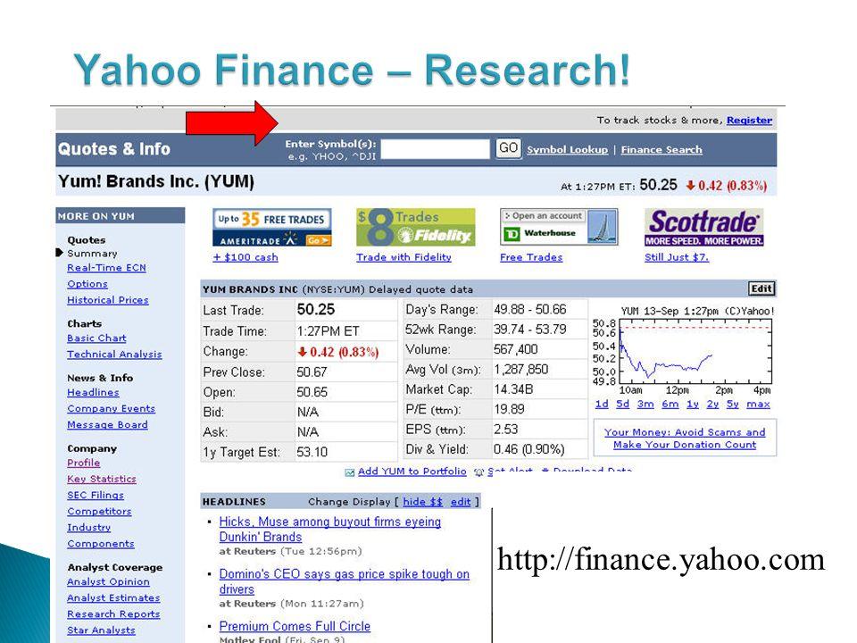 http://finance.yahoo.com
