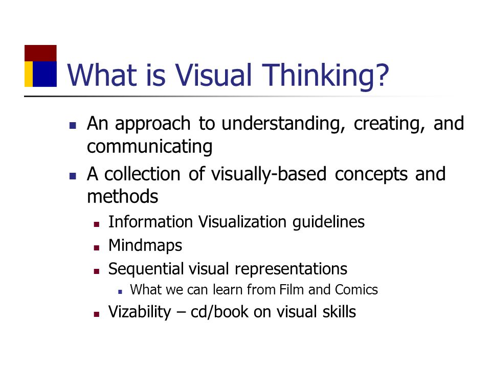 What is Visual Thinking.