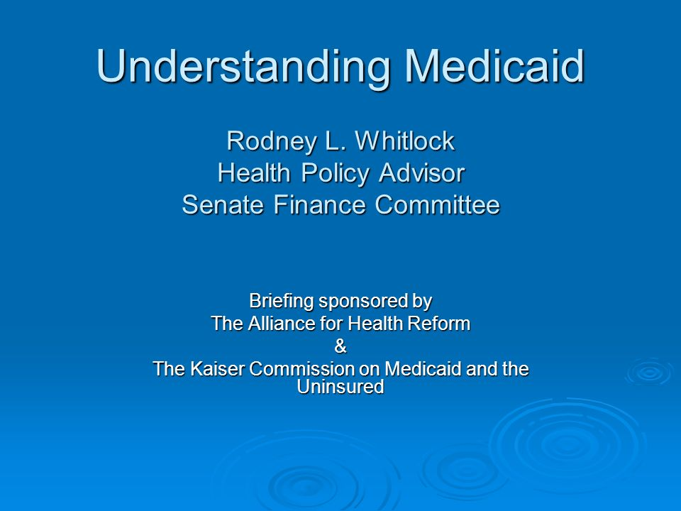 The Structure of Medicaid Medicaid is a federal-state partnership to provide health care services for certain populations.