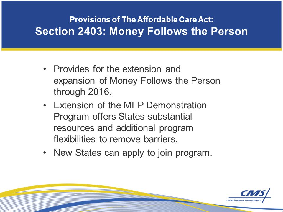 Provides for the extension and expansion of Money Follows the Person through 2016.
