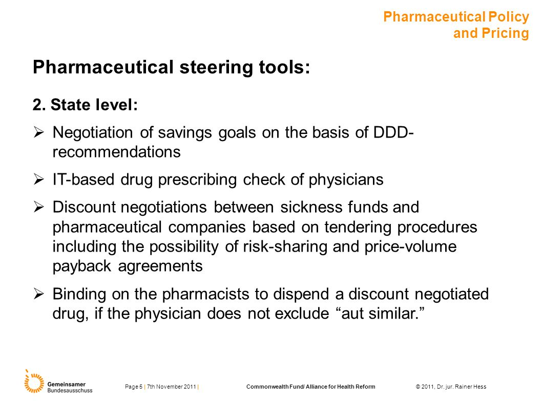 Pharmaceutical steering tools: 2.