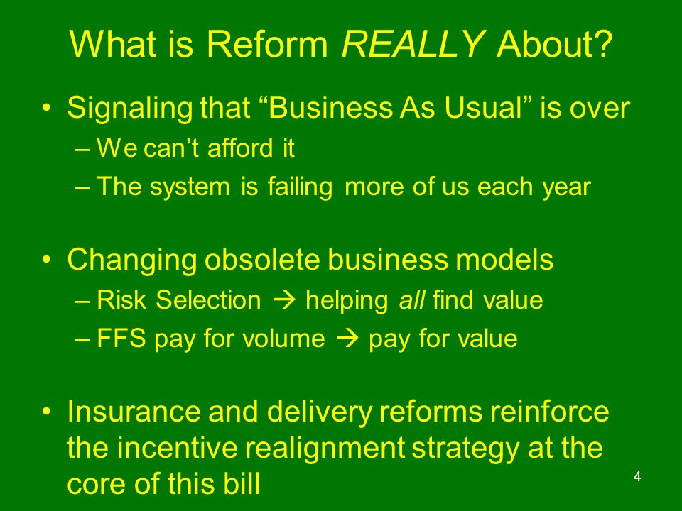 What is Reform REALLY About.