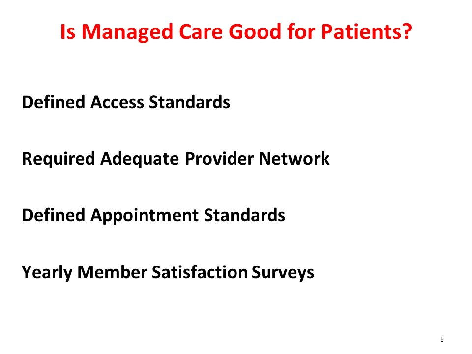 Is Managed Care Good for Patients.