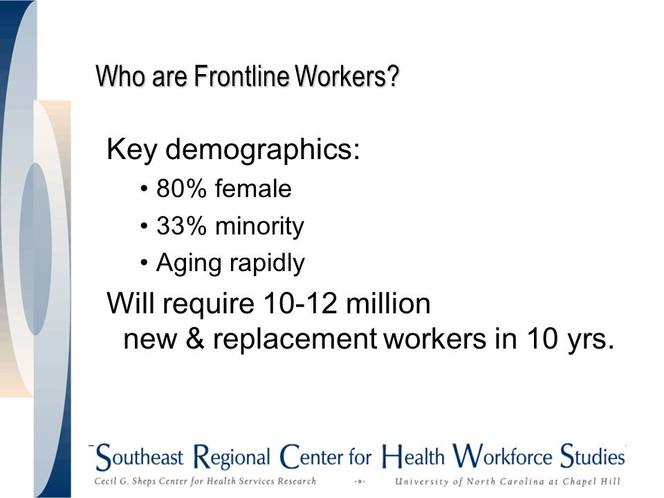 Who are Frontline Workers.