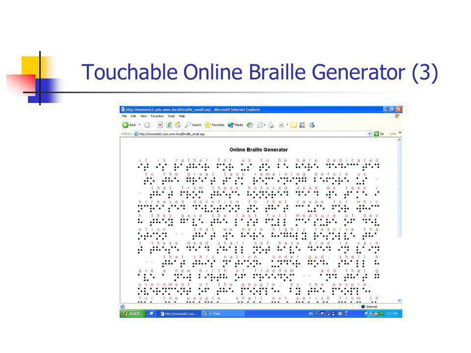 Touchable Online Braille Generator (3)