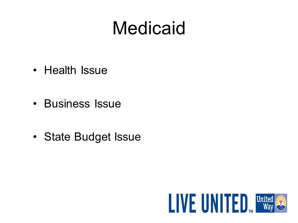 Medicaid Health Issue Business Issue State Budget Issue