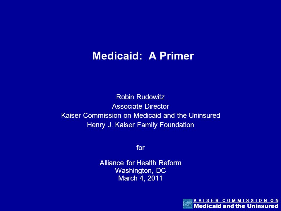Figure 10 K A I S E R C O M M I S S I O N O N Medicaid and the Uninsured The elderly and disabled account for the majority of Medicaid spending.