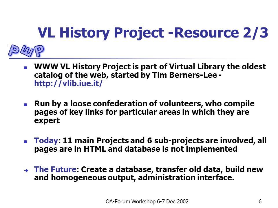 OA-Forum Workshop 6-7 Dec 200217 Eui, OAI Repository XML Response (request: GetRecord) <OAI-PMH xmlns= http://www.openarchives.org/OAI/2.0/ PROTOCOL VERSION (OAI-PMH 2.0) … PROTOCOL NAMESPACE DECLARATIONS, RESPONSE DATE, METADATA PREFIX… RESPONSE TO GETRECORD REQUEST … HEADER ( IDENTIFIER, DATE, SET) METADATA <oai_dc:dc ….