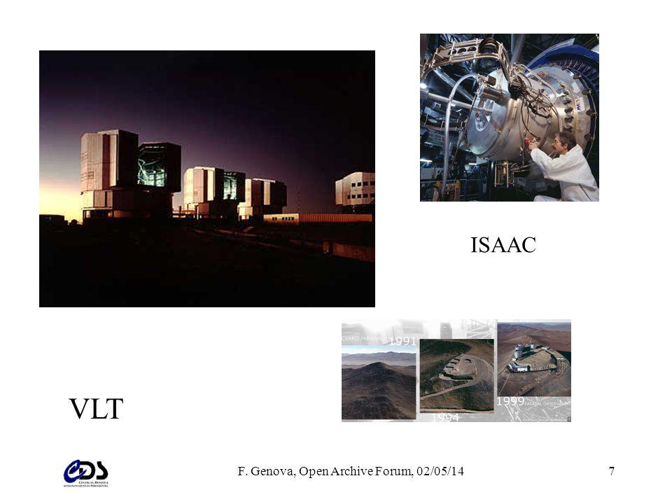 F. Genova, Open Archive Forum, 02/05/147 VLT ISAAC