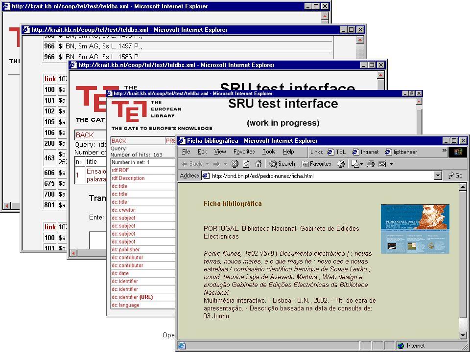 Open Archive Forum, Lissabon, 5-7 december 2002 5