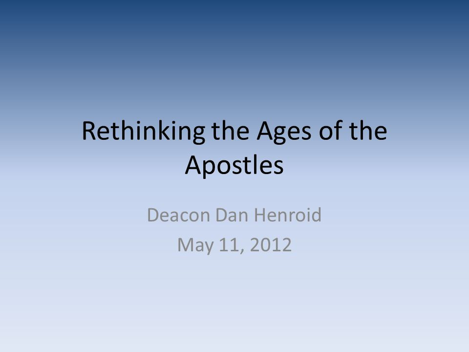 A tradition of older disciples may have developed for political reasons A youthful church might not command the respect of the community.