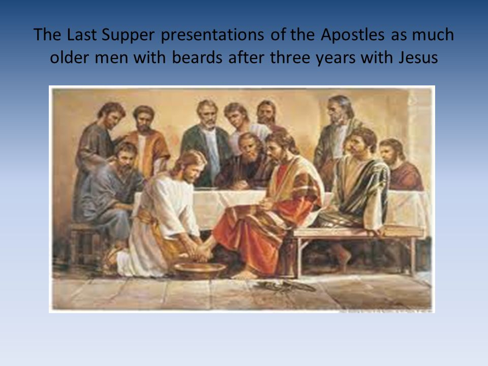 With the possible exception of John, all the Apostles are typically presented as older bearded men