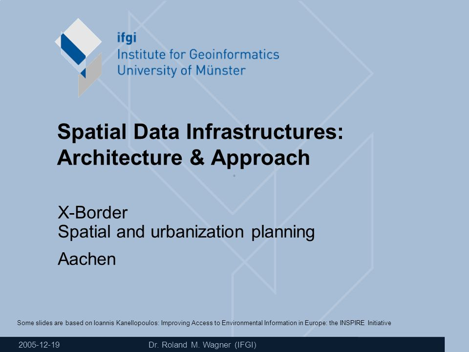WagnerSDI: Architecture & Approach 21 Contact Universität Münster Institut für Geoinformatik Dr.
