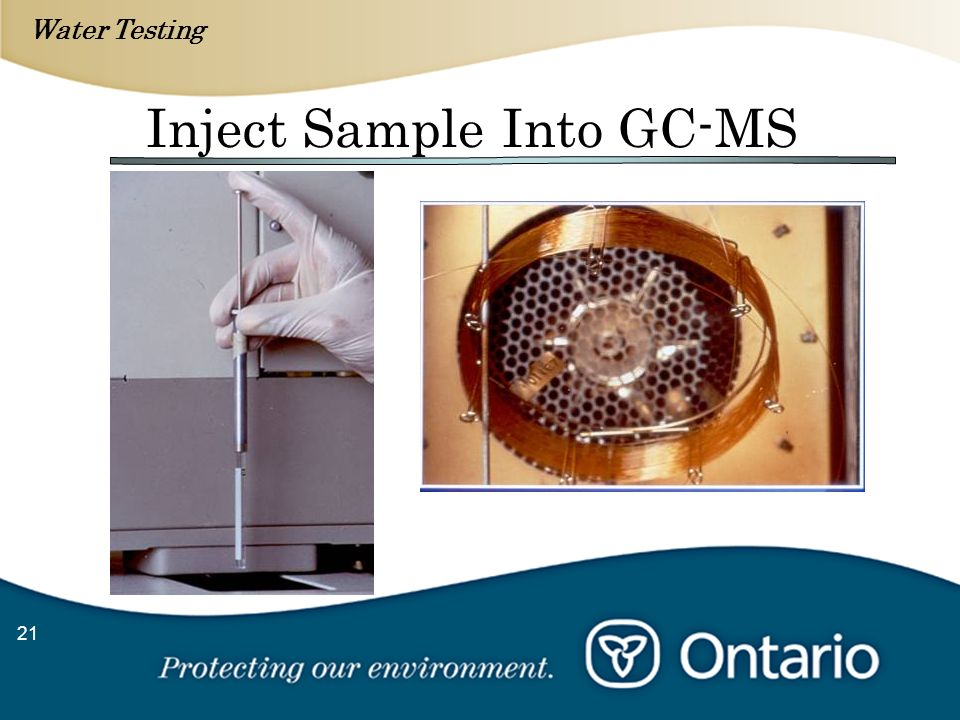 Water Testing 21 Inject Sample Into GC-MS