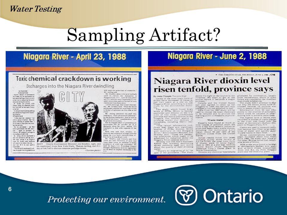 Water Testing 6 Sampling Artifact