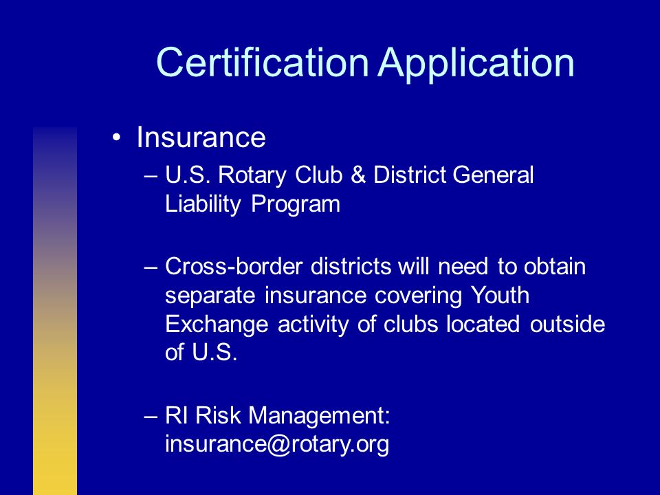 Certification Review Certified District –Implemented all requirements for certification as stated on application OR –Implemented all requirements for certification by enacting alternatives that maintain intent of policy Provisionally Certified District –Is working toward full certification AND has informed RI of progress by sending a certification application by 1 July 2006 Non-Certified District –No application by 1 July 2006 OR –Incomplete application and unresponsive to RI requests for more information