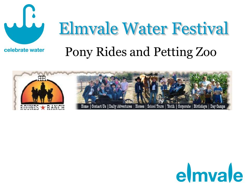 Elmvale Water Festival Pony Rides and Petting Zoo