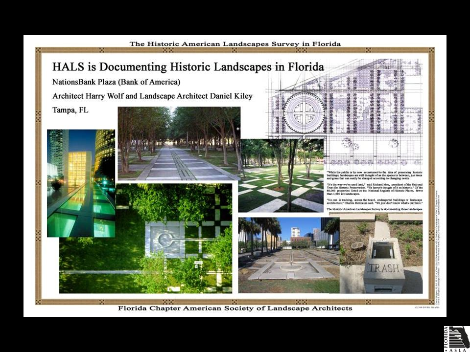 ASLA Florida Chapter HALS Subcommittee uses the HALS-I form to document historic landscapes in Florida