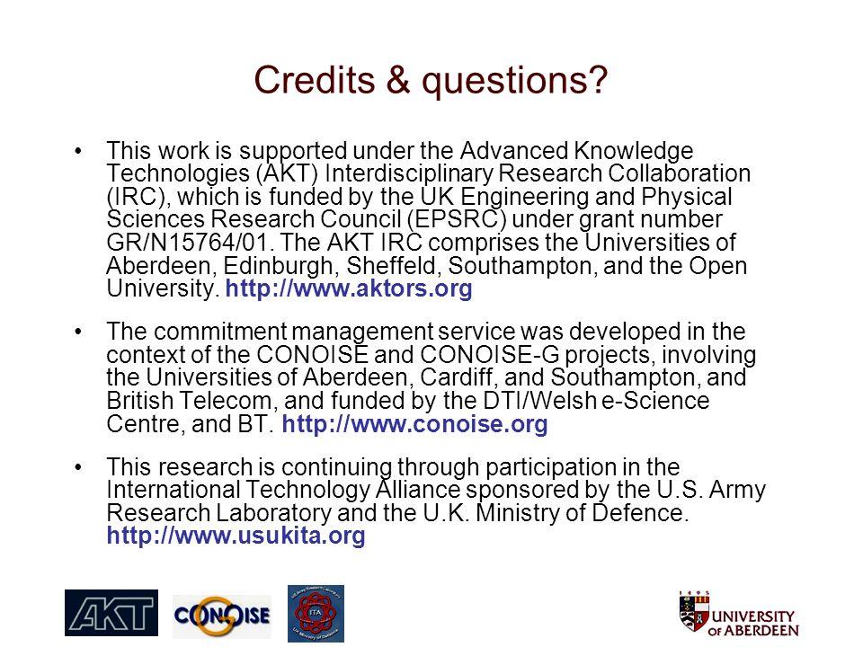 Credits & questions.