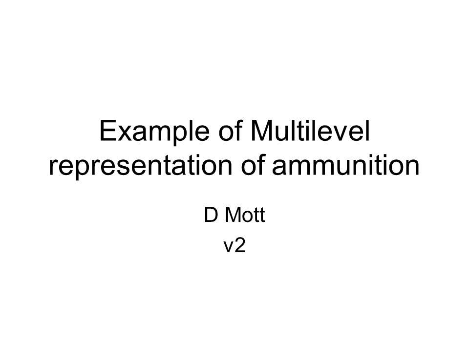 Example of Multilevel representation of ammunition D Mott v2