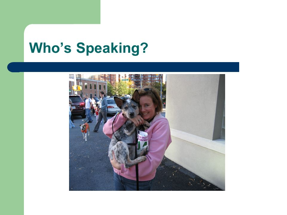 Whos Speaking