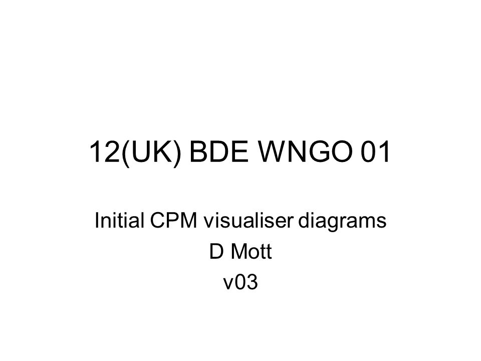 12(UK) BDE WNGO 01 Initial CPM visualiser diagrams D Mott v03