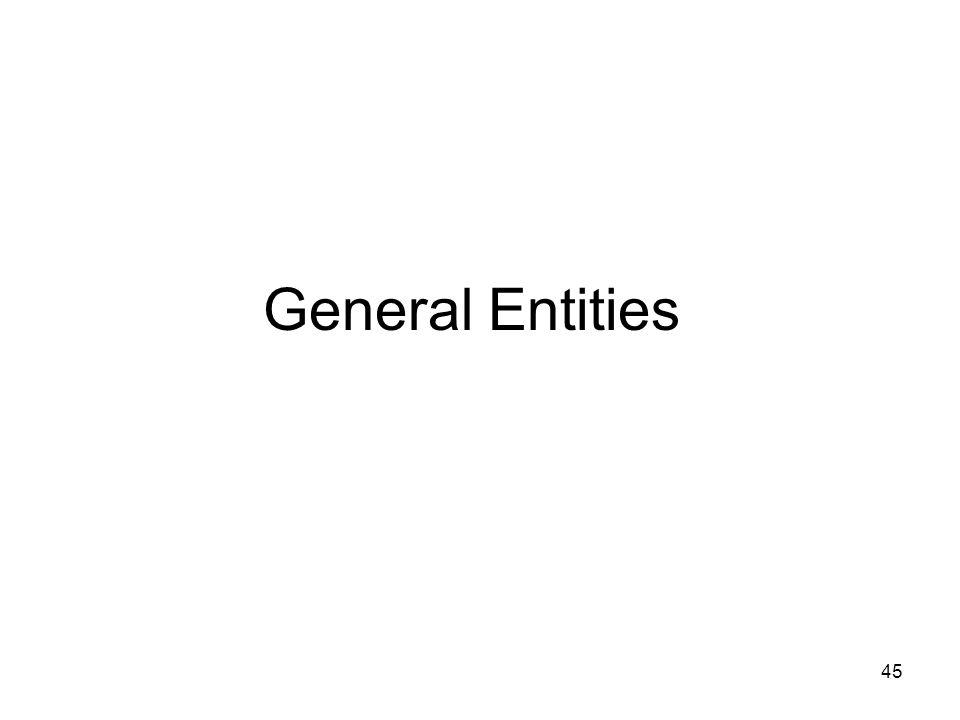 45 General Entities