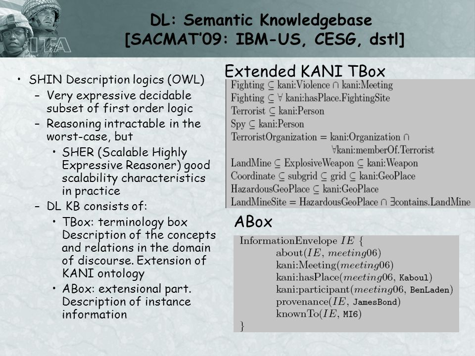 Experimental Evaluation SHER – A Highly Scalable SOUND and COMPLETE Reasoner for large OWL-DL KB –Reasons over highly expressive ontologies –Reasons over data in relational databases –Highly scalable Can scale to more than 60 million triples Semantically index 300 million triples from the medical literature.