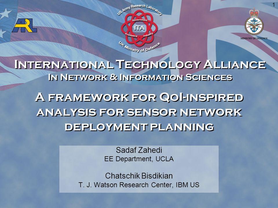 International Technology Alliance In Network & Information Sciences International Technology Alliance In Network & Information Sciences 1 A framework